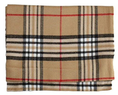 Camel Eel (Deluxe Comfort Cashmere Feel Camel New England Plaid Scarf)