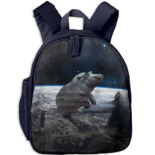 Baby Hippo Printed Kids School Backpack Cool Children Bookbag Navy by PENTA ANGEL