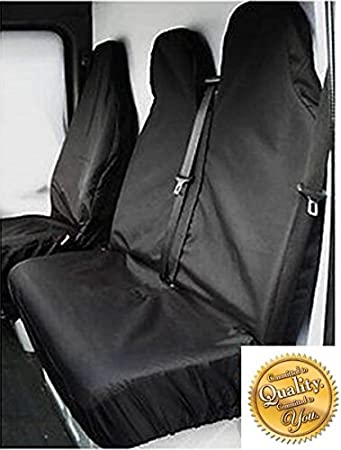 Protectors BLACK Vauxhall Vivaro Sportive EXTRA HEAVY DUTY Waterproof Van Seat Covers
