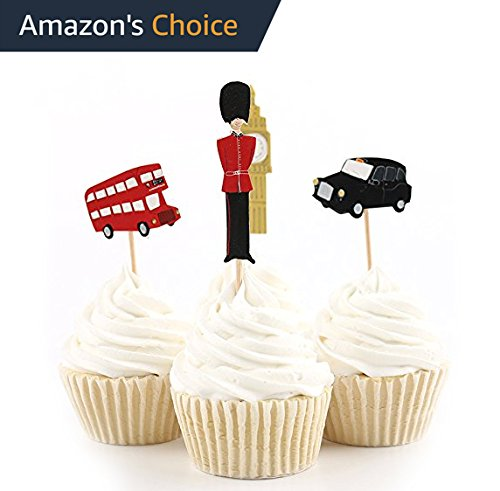 Value Pack- 24 Cupcake Toppers Picks- Various Themes (London Ice Cream)