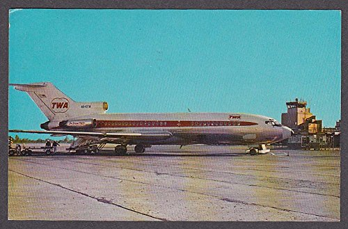 TWA Star Stream 727 Weir Cook Municipal Airport Indianapolis IN postcard 1960s by The Jumping Frog