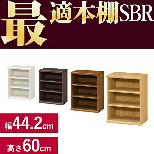 どんな本もバッチコイ GJ(頑丈)本棚 SBR [幅44.2cm ブラウン 高さ60cm 奥行31cm コミック約54冊] B00UFW7GU0 幅44.2cm|ブラウン ブラウン 幅44.2cm