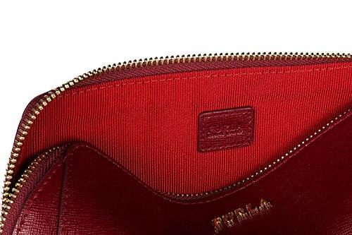Furla pochette a mano donna in pelle nuova originale rosso