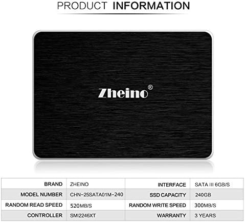 Zheino SSD A1 240 - Disco Duro sólido de 240 GB (2.5