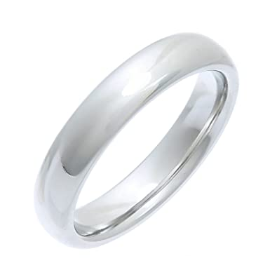 Theia Titanium Court Shape - Highly Polished Ring bGuLZ7Kjz