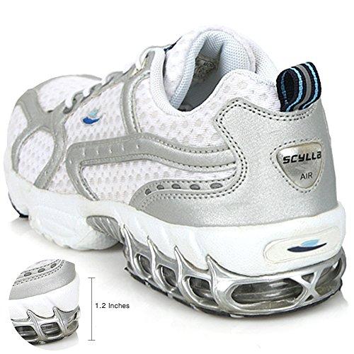 Nuove Sneakers Sportive Da Uomo Mens Running Walking Trainer Scarpe Da Ginnastica Bianche