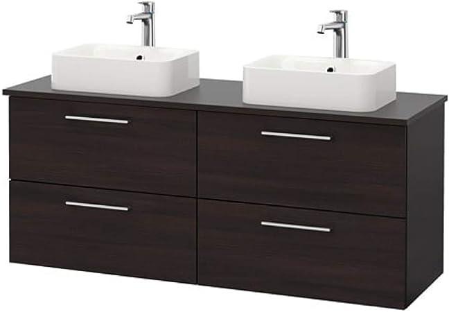 IKEA GODMORGON Black Brown High cabinet