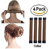 Super Simple Hair Bun Maker Set - 4pcs Women Girls...