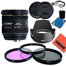 Sigma 24-70mm f/2.8 IF EX DG HSM AF Standard Zoom Lens for Nikon Digital SLR Cameras - Starter Kit - Includes: 82mm Filter Kit + Cap Keeper + Lens cleaning kit + More!!