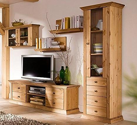 clever-moebel Parete attrezzata in legno di pino, oliato ...