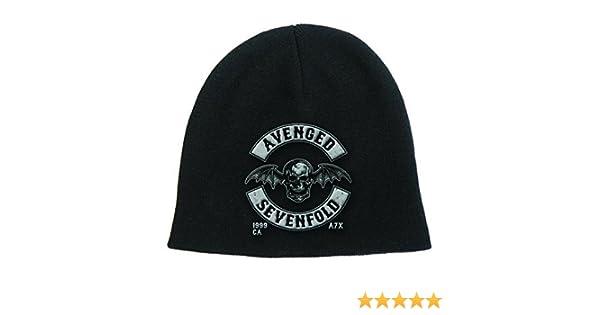 fa36fd2dd5a Amazon.com  Avenged Sevenfold Beanie Hat Cap Death Bat Crest Band Logo  Official Black  Clothing