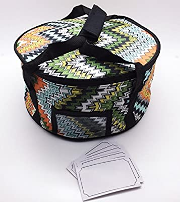 Insulated Round Casserole Carrier with ID Window
