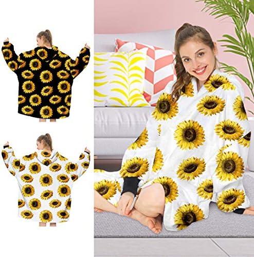 Chenstar Surdimensionné Sweat-shirt à capuche Couverture super douce et chaude à porter, confortable géant à capuche devant poche géante pour adultes, hommes et femmes