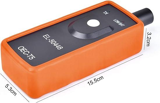 Funkprofi Rdks Anlernsystem Reifenventilaktivator Tpms Reifendrucksensor Reifendruck Kontrollsysteme El 50448 Für Opel Gm Mit 4 X Gasventilkappen Orange Auto