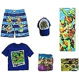 Teenage Mutant Ninja Turtles Swim Trunks, T-Shirt, Towel and Beach Set