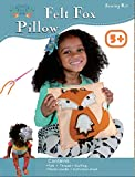 Sew and Stuff Kit. Felt Fox Pillow Ideal Kids Craft Kit Includes all Supplies. Fun Activity. Ages 5-12. All Inclusive Arts and Crafts, Woodland Animal Fox w/ Vibrant Colors Ideal Rainy Day Activity