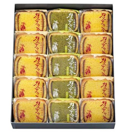 Bunmeidou Kasutera sponge cake Japanese Toraditional sweets 15pice by Bunmeidou