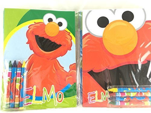 Favor Party Set Crayon (Party Favors Sesame Street Coloring Book & Crayon Set 12 Pack ( Assorted Style))