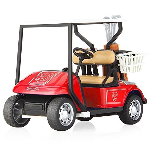 Golf Collection (LYhopes 1:36 Pull Back Car Diecast Model Alloy&Plastic Car Toy - Collection Car Vehicle Brinquedos Toys For Boys Children Birthday Gift-Die-Cast Metal Golf Cart Model Toy Vehicle(Color Random))