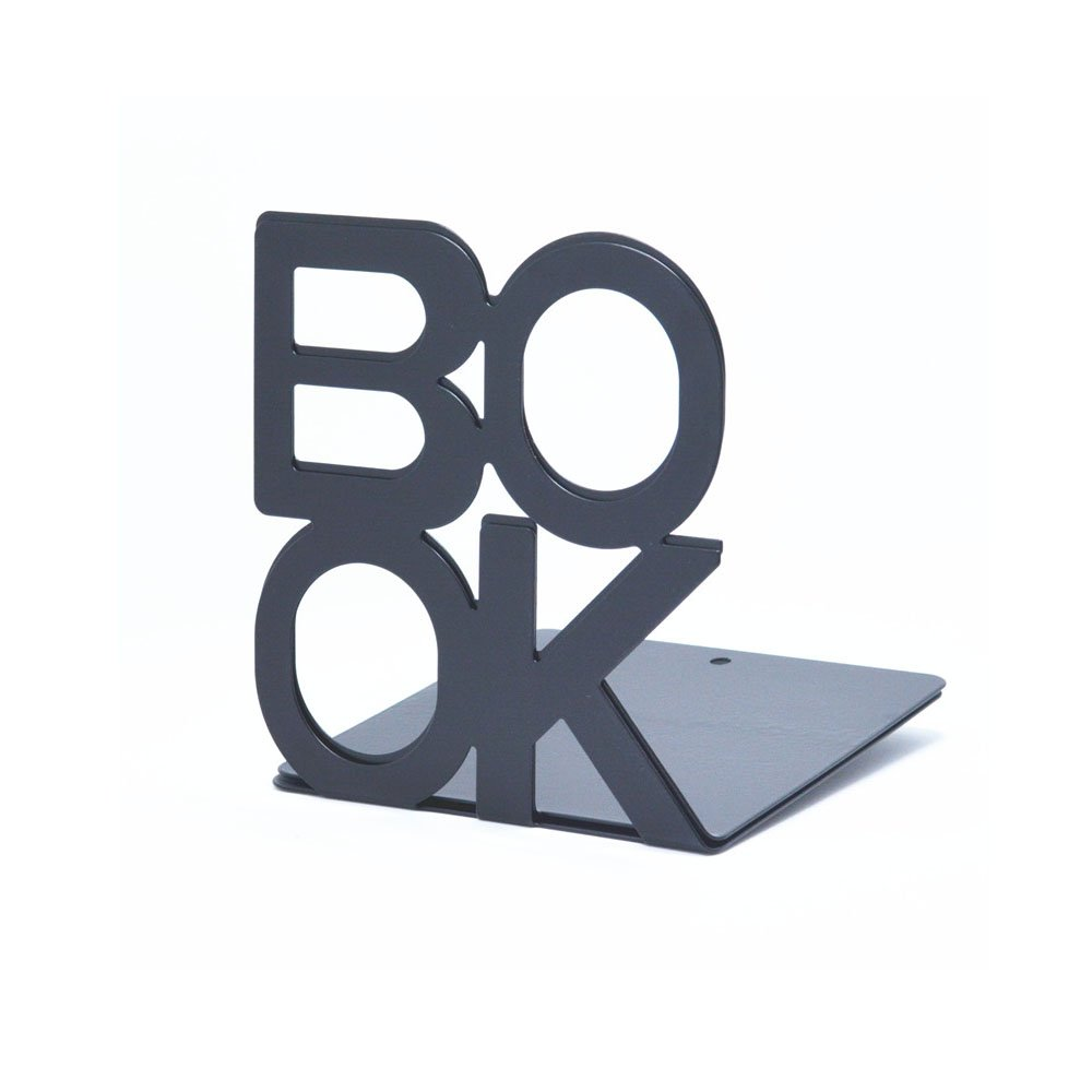 Luxury 1Pair Letter Books bookends bookend Black