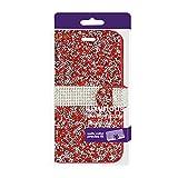 Reiko Bling Diamond Flip Case Wallet Case for LG G Stylo, LG LS770, LG G4 Stylus - Retail Packaging - Red