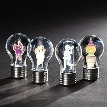 roman inc halloween flickering led light bulbs four piece set 30465 - Halloween Light Bulbs