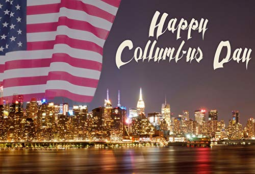 Yeele 5x3ft Happy Columbus Day Photography Backdrop New