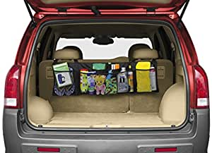 Premium Luminnaz Car Trunk Back Seat Storage Organizer - Free Drawstring Bag - Heavy Duty with 1680D Polyester -For SUV, Van, Truck, Cargo Accessories Backseat (Kids Toy, Doc,.)- Enhance Your Travel!