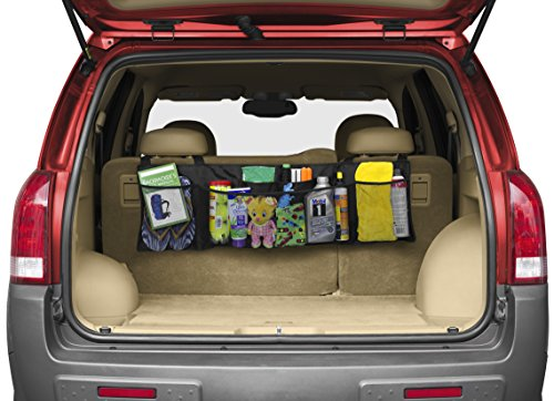 Price comparison product image Premium Luminnaz Car Trunk Back Seat Storage Organizer - Free Drawstring Bag - Heavy Duty with 1680D Polyester -For SUV,  Van,  Truck,  Cargo Accessories Backseat (Kids Toy,  Doc, .)- Enhance Your Travel!