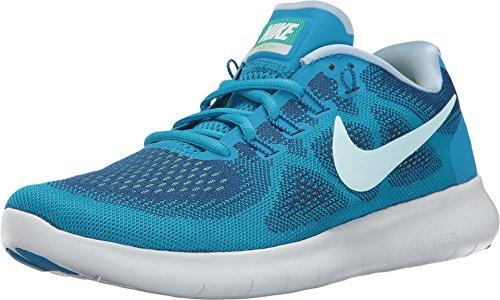 Nike Womens Free RN 2017 Size 5.5 GymBlue/GlacierBlue/BlueOrbit