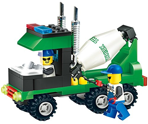 truck-vehicle-concrete-cement-mixer-102-pcs-building-blocks-all-6-wheels-drive-truck-with-chrome-exh