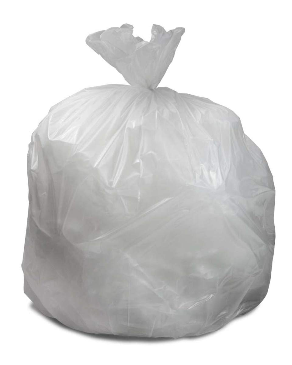 Trash Can Liners, Natural, 45 Gallon, 16 Micron, 40'' x 48'', 250/case by Bunzl Distribution Midcentral