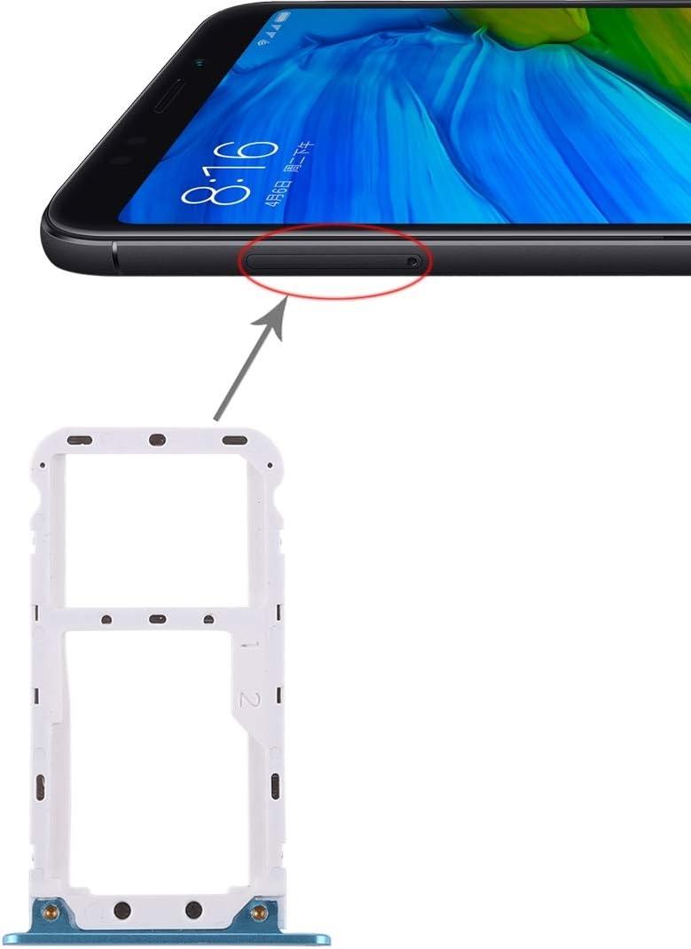 Cellphone Replacement Parts Repuestos para celulares 2 Bandeja de la Tarjeta SIM/Bandeja de la Tarjeta Micro SD para Xiaomi Redmi 5 Plus Repuestos para celulares (Color : Azul)