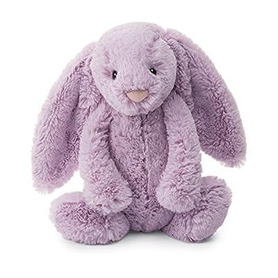 Jellycat Bashful Lilac Bunny Stuffed Animal, Medium, 12 inches