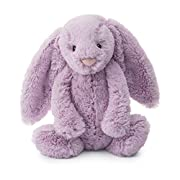 Jellycat Bashful Lilac Bunny, Medium, 12 inches
