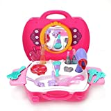 YOOMUN Make Up Case And Cosmetic Set For Baby Girls– Pretend Play Toy Children's Princess Fashion Toy with 21 Pcs for Kids above 3 Years Old