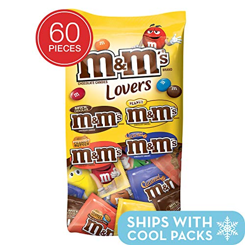 M&M'S Chocolate Candy Lovers Fun Size Variety Mix 33.08-Ounce 60-Piece ()