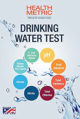 Drinking Water Test Kit For Municipal Tap and Well Water - Simple Testing For Heavy Metals, Bacteria, Nitrates, Chlorine and More