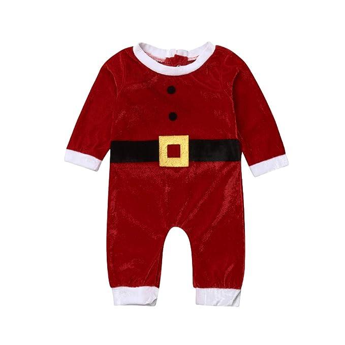 Bebé Recién Nacido Navidad Mono Disfraz de Papá Noel para Niños ...