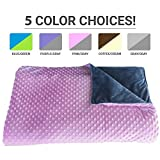 Premium Weighted Blanket, Perfect Size (XL) and Weight (12lb) For Adults and Children. Deluxe...
