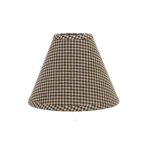 Home Collection by Raghu 2R670011 Home Newbury Gingham Black Lampshade, 12'',