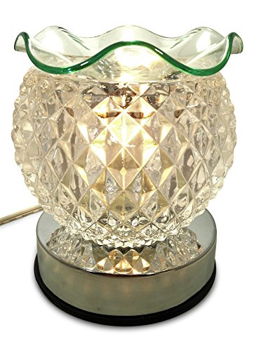 Pineapple Ball, Clear Glass Electric Touch Controlled Decorative Fragrance Oil, Wax Lamp