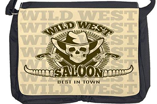 Borsa Tracolla USA Native Wild West Saloon Stampato