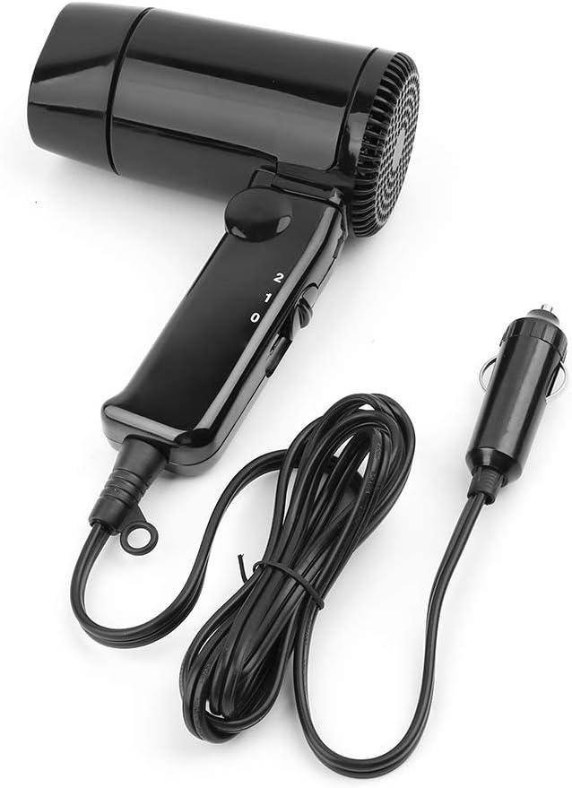 Secador de pelo portátil de 12 V para coche, caliente, frío y calor, ventilador plegable para ventana