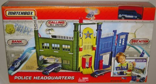 Mattel Matchbox Police Headquarters Play Set with Limited Edition 1:64 Scale Collectible Die Cast Car SCHOOL BUS