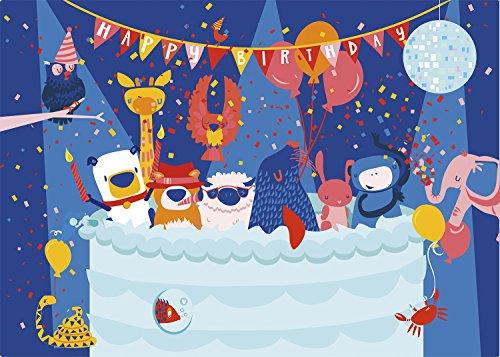 Silly Street - Happy Birthday - Kids 48 Large Piece Jigsaw Puzzle