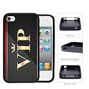 VIP Card Gray Gold Exclusive Membership Rubber Silicone pc Cell Phone Case Apple iPhone 4 4s