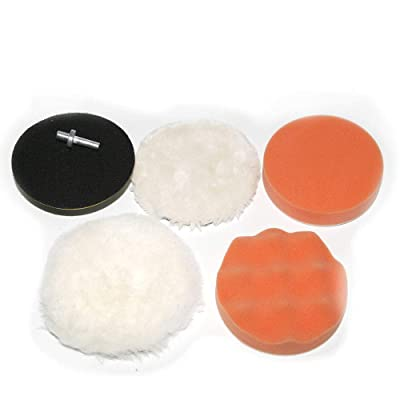 "CSLU-Tool 4"" Diameter Car Polishing Buffer Clean Waxing Sponge Pads Kit + 8mm Shank Drill Adaptor 6 Pcs/Set: Home Improvement"