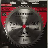 Craftsman 32113 7-1/4' x 40 Tooth Steel Circular Saw Blade