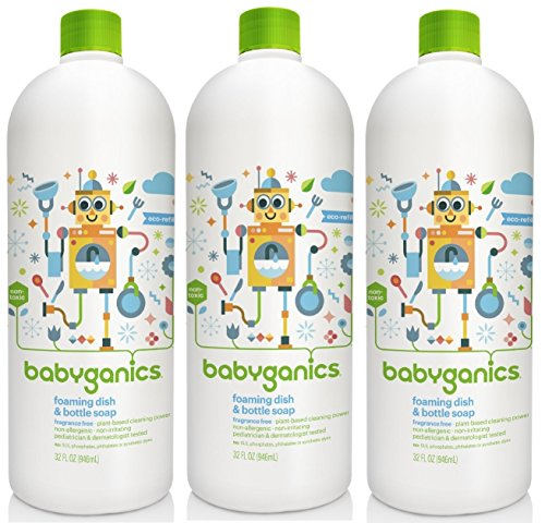 BabyGanics Foaming Dish Soap Refill, 32 fl. oz. (Pack of 3)